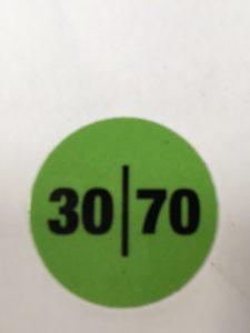 3070 HANDLE STICKER